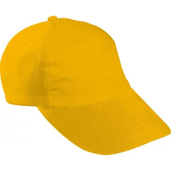 Baseballcapjes goud voor kinderen