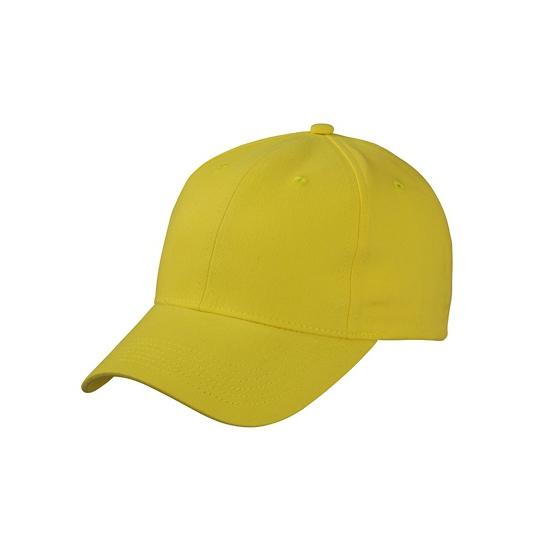 Basic baseball cap geel
