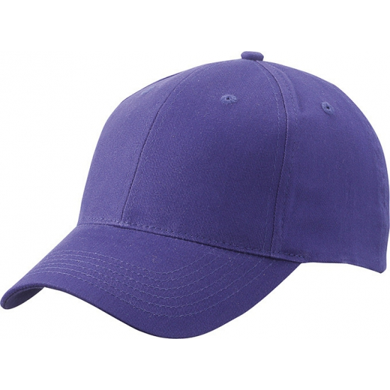 Basic baseball cap gekleurd paars