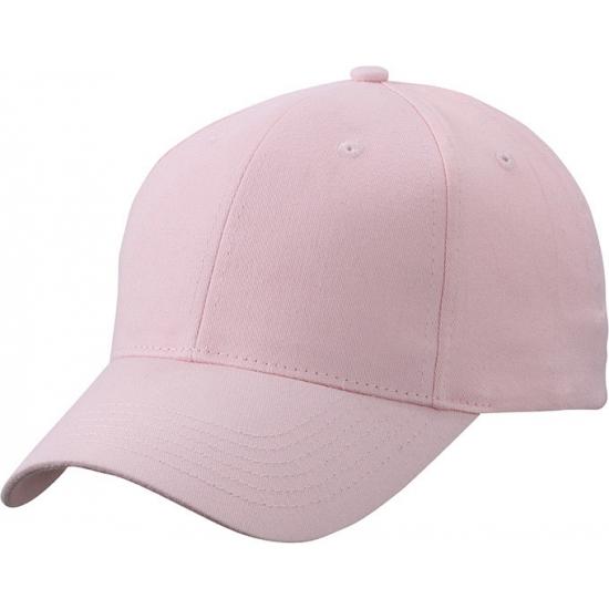 Basic baseball cap licht roze