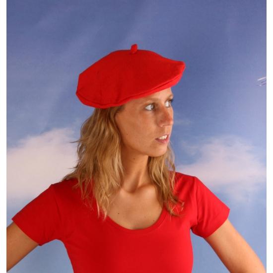 Dames alpino hoedje rood