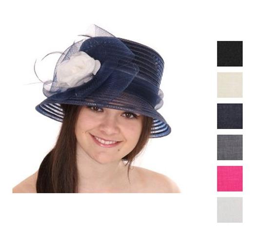 Dames hoeden met strik en bloem
