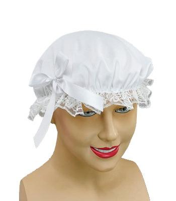 Dienstmeisjes mutsje met kant en strikje