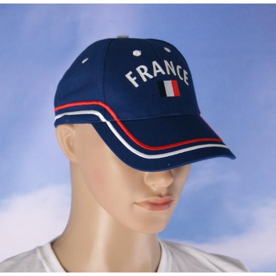 Frankrijk cap blauw voor volwassenen