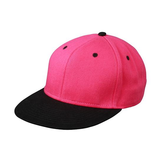 Hippe baseball cap in zwart/roze