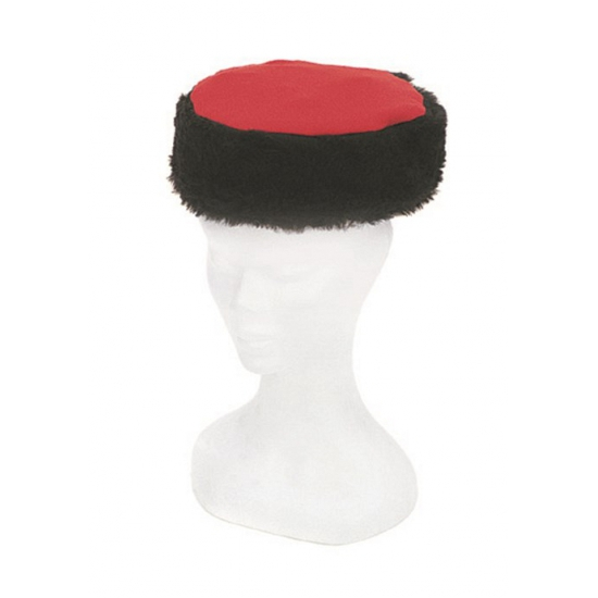 Kozak muts zwart met rood