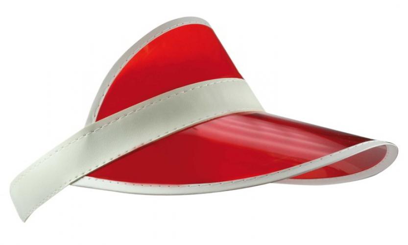 Plastic rode zonneklep voor volwassenen