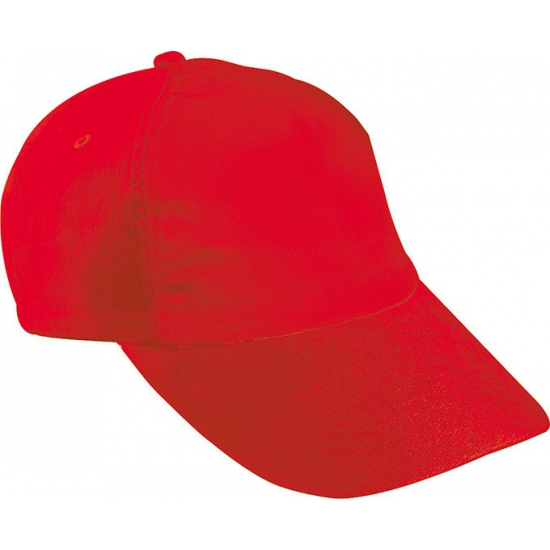 Rode kinder baseballcaps