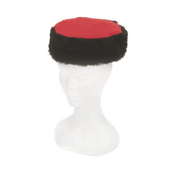 Russische Kozak muts rood met zwart