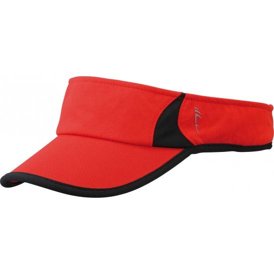 Sporty zonneklep polyester rood