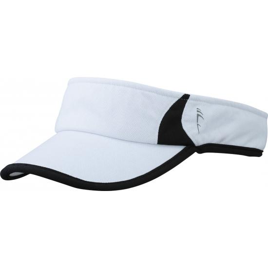Sporty zonneklep polyester wit