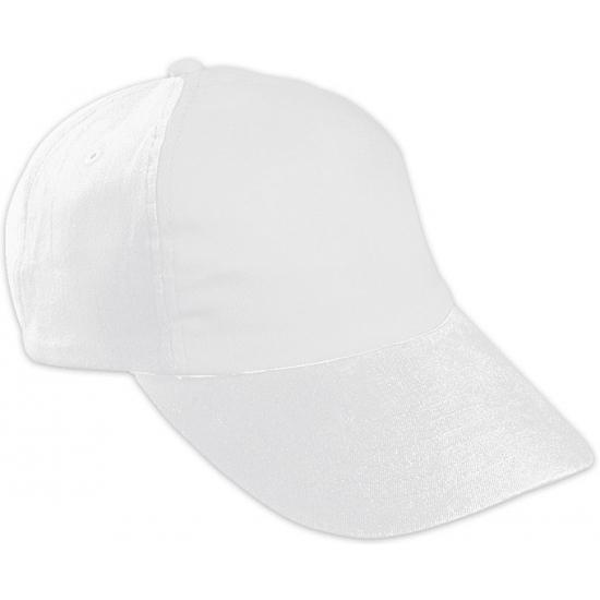Witte kinder baseballcaps