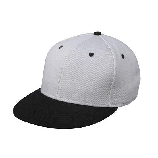 Zilver/zwarte baseball cap voor volwassenen
