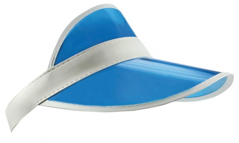 Zonneklep van plastic in de kleur blauw