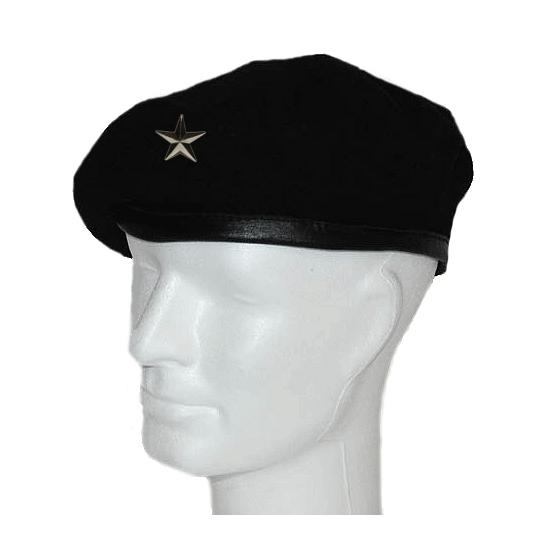 Zwarte baretten met ster embleems