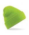 Basic winter muts lime groen