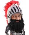 Gebreide ridder muts met zwarte baard