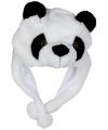 Pluche panda muts voor kinderen
