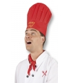 Rode koksmuts party chef
