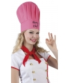 Roze koksmuts party chef