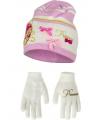Schoenkadootjes muts en handschoenen prinses wit