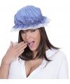 Slaapmuts blauw wit voor volwassenen