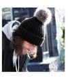 Winter muts met pompon zwart
