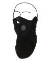 Zwarte fleece gezichtswarmer sjaal