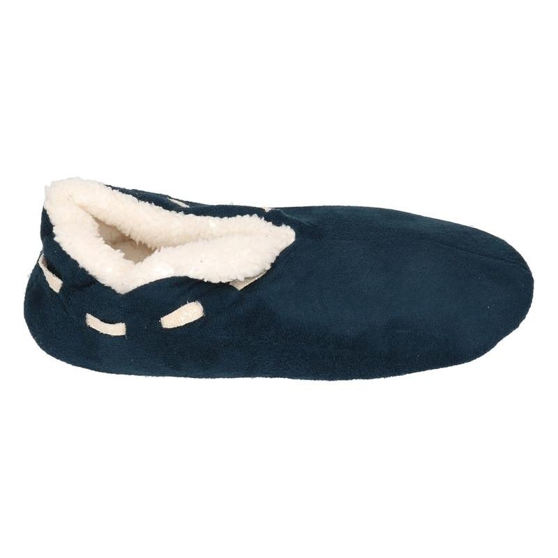 64aaf064602885 Dames Spaanse sloffen/pantoffels navy op muts-bestellen.nl.