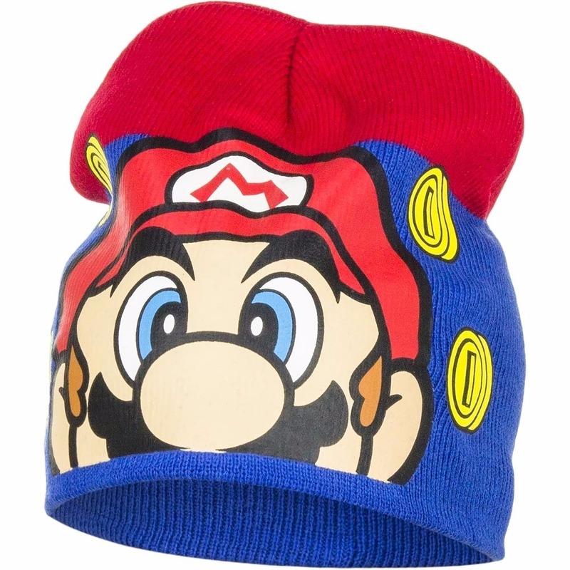 Super Mario muts donker blauw voor jongens