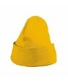 Basic winter muts geel voor jongens