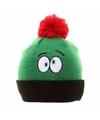 Skimuts voor kinderen groen met verwarde ogen