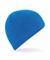 Thermo microfleece muts blauw voor dames