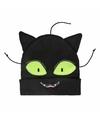 Zwarte katten poezen muts voor meisjes